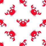 Kraba owoce morza bezszwowy Zdjęcie Royalty Free