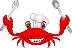 Kraba szef kuchni Obraz Stock