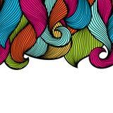 Krabb krullad sömlös modell Färgrik textur för abstrakt översikt royaltyfri illustrationer