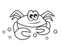 Krabba - färgläggningbok Arkivbild