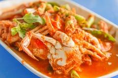 Krabba i currydeg Arkivbilder