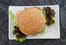 Krabba och Alga Burger Fotografering för Bildbyråer