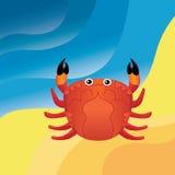 Krabba på sanden Royaltyfri Foto