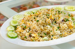 krabba stekt rice arkivfoton