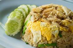 krabba stekt rice Royaltyfria Bilder