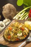 Krabbe angefüllte portobello Pilze Lizenzfreie Stockbilder
