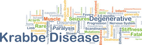 Krabbe disease background concept Stock Photography
