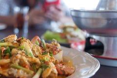Krabbe im Curry Lizenzfreies Stockbild