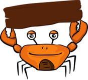 Krabbe mit leerem Zeichen Stockfotografie