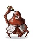 Krabbe und Majonäse Stockbild