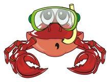 Krabbe und Tauchen stock abbildung