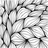 Krabbel abstracte rimpelingen Naadloos patroon Stock Afbeelding