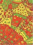 Krabbel achtergrondillustratie vector illustratie
