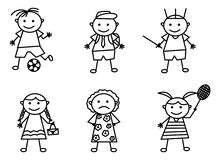 Krabbel Art Set With Various Activities vector illustratie