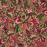 Krabbel bloemen Abstracte achtergrond Royalty-vrije Stock Afbeelding