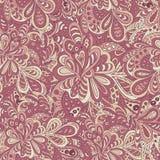 Krabbel bloemen naadloze achtergrond Royalty-vrije Stock Fotografie