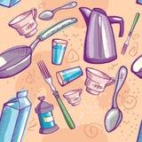 Krabbel cookware stock illustratie