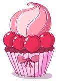 Krabbel cupcake Royalty-vrije Stock Afbeelding