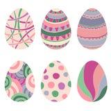 Krabbel decoratieve eieren voor Pasen. Royalty-vrije Stock Afbeeldingen