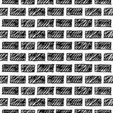 Krabbel grunge bakstenen muur Royalty-vrije Stock Afbeelding