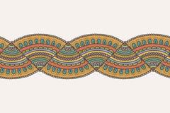 Krabbel kleurrijke naadloze grens Stock Fotografie