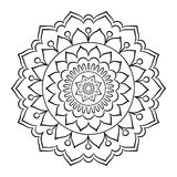 Krabbel Mandala Coloring Page Vector Illustratie