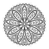 Krabbel Mandala Coloring Page Royalty-vrije Stock Afbeelding
