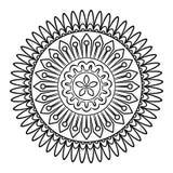 Krabbel Mandala Coloring Page Royalty-vrije Stock Foto's