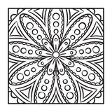 Krabbel Mandala Coloring Page Royalty-vrije Stock Afbeeldingen