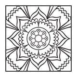 Krabbel Mandala Coloring Page Royalty-vrije Illustratie