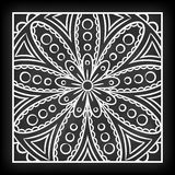 Krabbel Mandala Flower vector illustratie