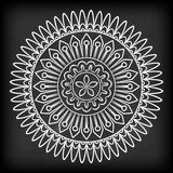 Krabbel Mandala Flower stock illustratie
