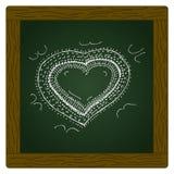 Krabbel van een ontwerp van het liefdehart vector illustratie