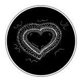 Krabbel van een ontwerp van het liefdehart stock illustratie