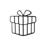 Krabbel van huidige doos vector illustratie
