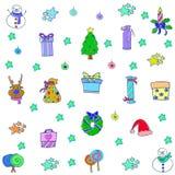 Krabbel van Kerstmis voor jonge geitjesvoorwerp stock illustratie