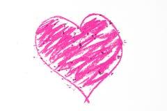 Krabbel van roze hart Stock Foto