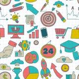 Krabbel vector naadloos patroon met bedrijfselementen Stock Foto's