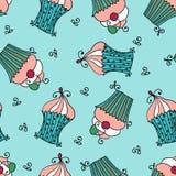 Krabbel vector naadloos patroon met zoete cupcakes Royalty-vrije Stock Afbeelding