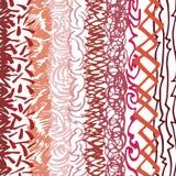 Krabbelde het tellersgekrabbel gebaseerde rustieke die patroon, uit het verticale, parallelle lopen wordt samengesteld lijnen Stock Afbeeldingen