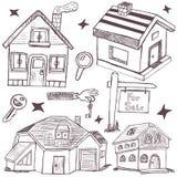 Krabbelhuizen stock illustratie