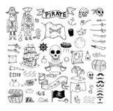 Krabbelpiraat elememts, vectorillustratie Royalty-vrije Stock Foto's