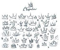Krabbelreeks kronen vector illustratie