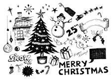 Krabbels - de Viering van Kerstmis vector illustratie