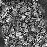 Krabbels grafisch terug naar Schoolillustratie Creatieve kunstachtergrond royalty-vrije stock afbeeldingen
