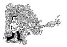 Krabbels van het muziek de Schetsmatige Notitieboekje Hand-drawn Stock Fotografie