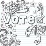 Krabbels VectorIllust van de School van de Verkiezing van de stem de Schetsmatige Stock Afbeelding