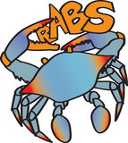 Krabben stock illustratie