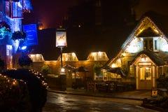 Krabben-Gasthaus nachts Stockbilder