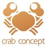 Krabben-Ikonen-Konzept Stockfoto